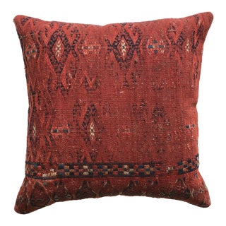 Mid 20th Century Red Medium Turkish Kilim Pillow For Sale