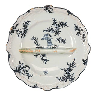 C. 1880 Asparagus Plate by Emile Galle For Sale