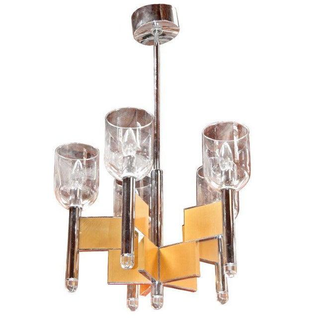 Silver Italian Sciolari Chandelier For Sale - Image 8 of 8