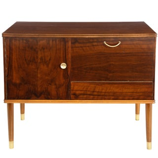 Danish Mid-Century Modern Mahogany Cabinet With Door and Drawer, Stamped For Sale
