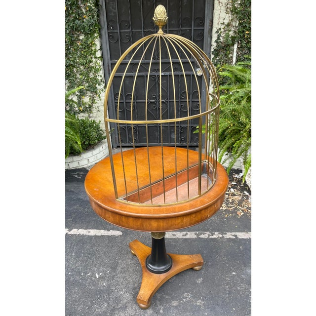 Grosfeld House Rare Grosfeld House Hollywood Regency Mid Century Modern Empire Birdcage Jardenier Table For Sale - Image 4 of 5