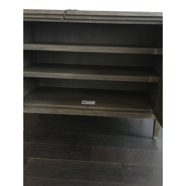 Transitional Bleached Mahogany Mirrored Buffet For Sale In San Francisco - Image 6 of 7