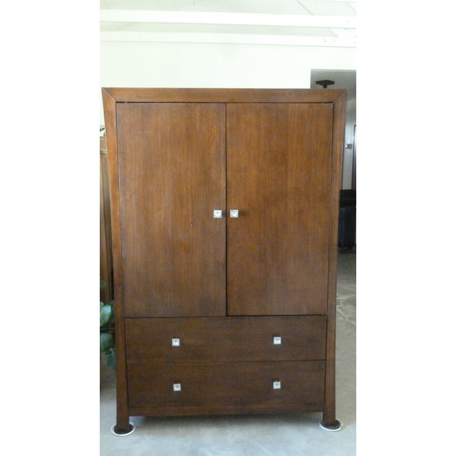 2010s Modern Asian Style Armoire For Sale - Image 5 of 5
