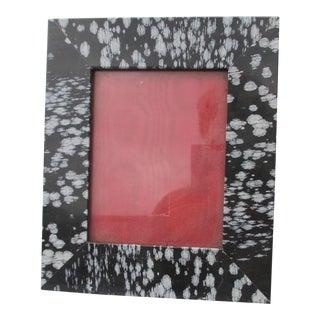 Snowflake Obsidian Photo Frame For Sale