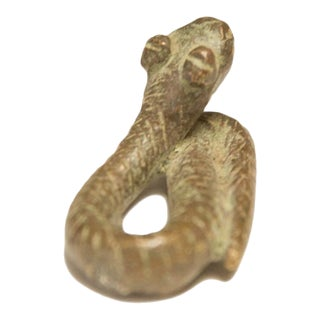 Vintage African Striped Small Snake For Sale