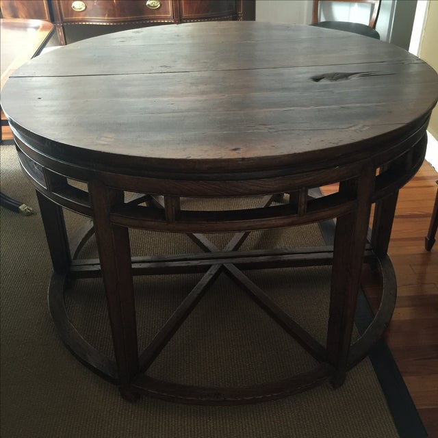 Anitique Chinese Chinois Demilune Tables - Pair - Image 2 of 10