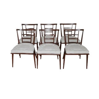 Set of Six Mid-Century Walnut Dining by Bert England For Sale