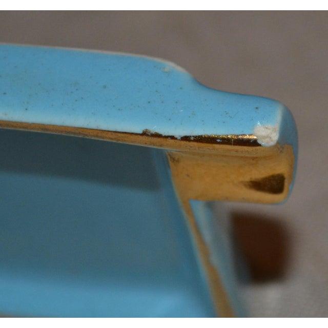 Ceramic Canonsburg China Art Deco Cigarette Box For Sale - Image 7 of 12