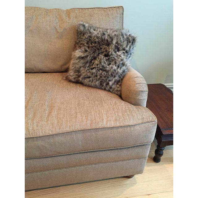 Animal Print Real Fox Fur Square Decorative Accent Pillow For Sale - Image 4 of 6