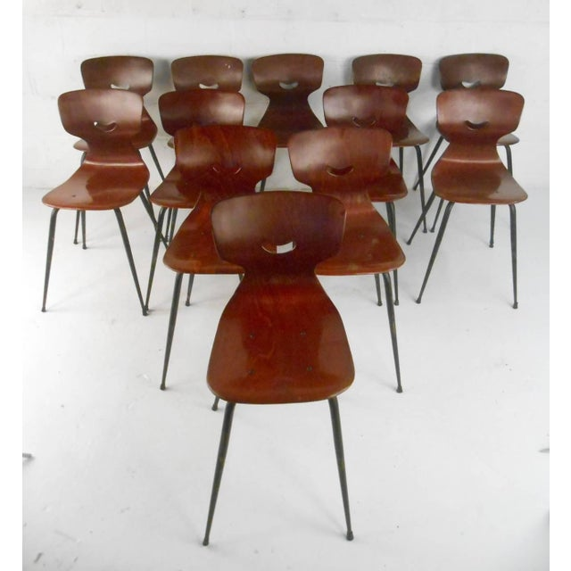 Beautiful industrial strength molded chairs designed by Adam Stegner. Made from strong Pagwood shaped seats (Pagwood is...