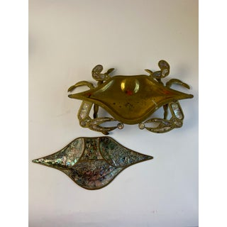 Vintage Brass and Abalone Crab Preview