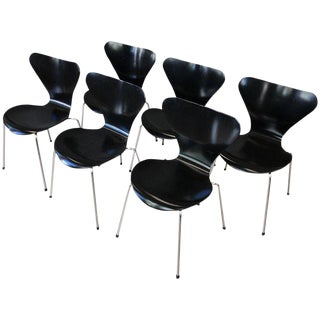 Arne Jacobsen for Fritz Hansen Series 7 Side Chairs, Set of Six For Sale