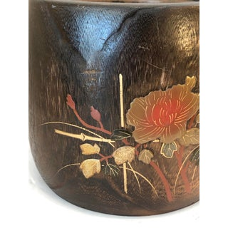 Antique Japanese Makie Hibachi, Kiri Wood, & Lacquer Inlay, C1870-1910 Preview