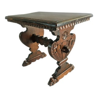 Italian Carved Baroque Style Side Table For Sale