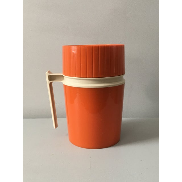 Mid-Century Modern Orange Thermos Brand Kitchen / Bar Accent For Sale - Image 10 of 10