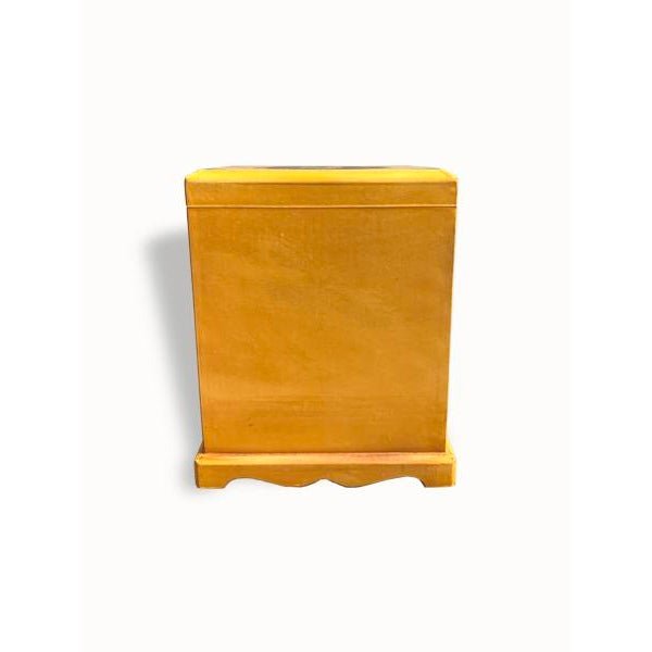 Early 21st Century Wooden Yellow Jewelry Box For Sale - Image 5 of 6