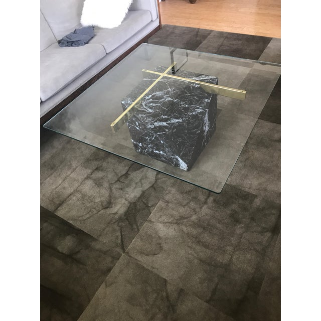 Artedi Nero Marquina Marble & Brass Coffee Table - Image 2 of 8