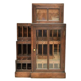 Early 1900s French Vineyard 75 Wine Bottle Rack Display Cabinet For Sale