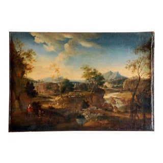 Early 17th Century French Landscape Painting For Sale