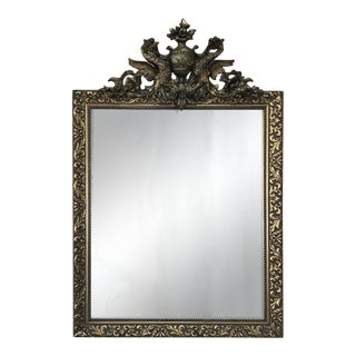 19th Century French Neoclassical Gilded Mirror With Dragons For Sale