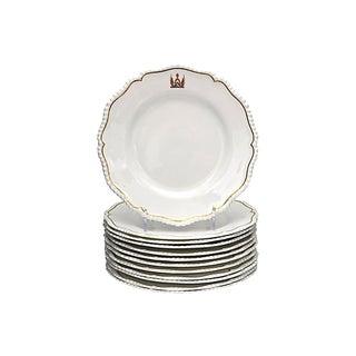 Antique Royal Worcester Crested Plates - S/12 For Sale