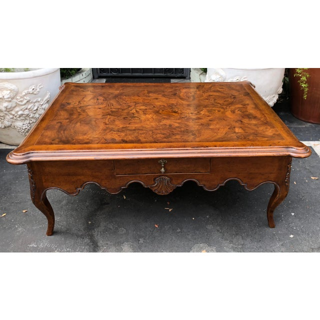 Walnut Signed David Michael Formal Living Coffee Table For Sale - Image 7 of 7