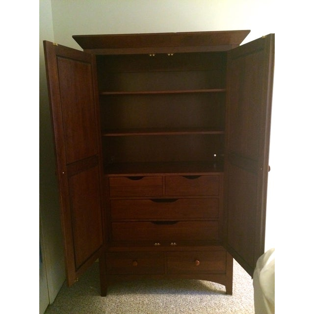 Ethan Allen Cherry Wood Armoire - Image 3 of 10