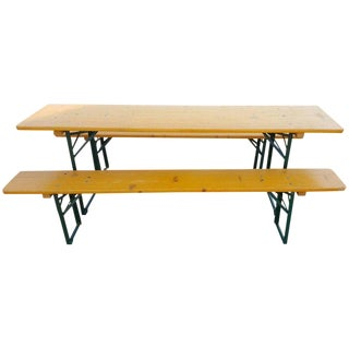 5 Picnic Table Sets From German Beer Garden Halls Free Shipping; Many Sets Avail For Sale