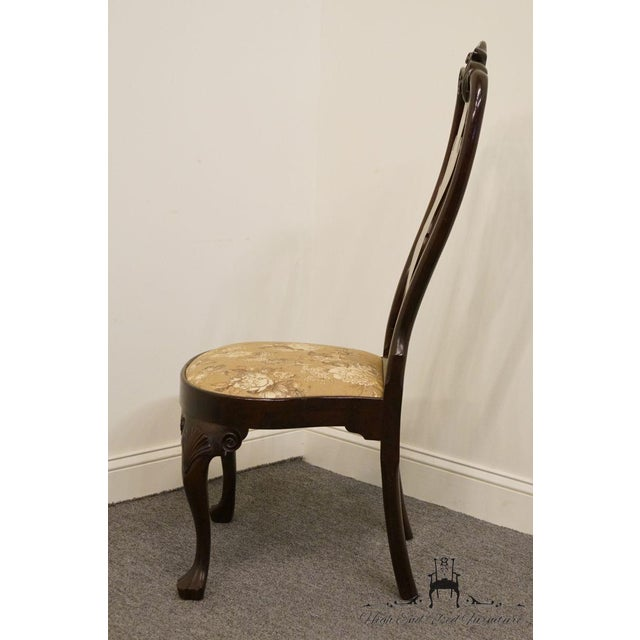 Stickley Queen Anne Splatback Mahogany Dining Side Chair For Sale - Image 12 of 13