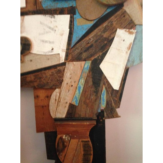 Abstract Wood Collage by Felice Antonio Botta, Italy, 20th Century For Sale - Image 5 of 9