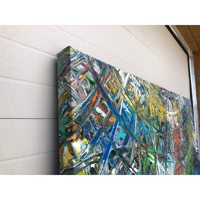 """Troy Smith Designs Acrylic Painting by Artist Troy Smith - 79"""" X 79"""" - Contemporary Art - Abstraction For Sale - Image 4 of 13"""