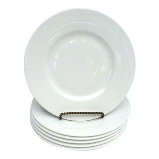 """Vintage Villeroy & Boch """"Royal"""" White Bone Porcelain Salad Plates - Set of 6"""