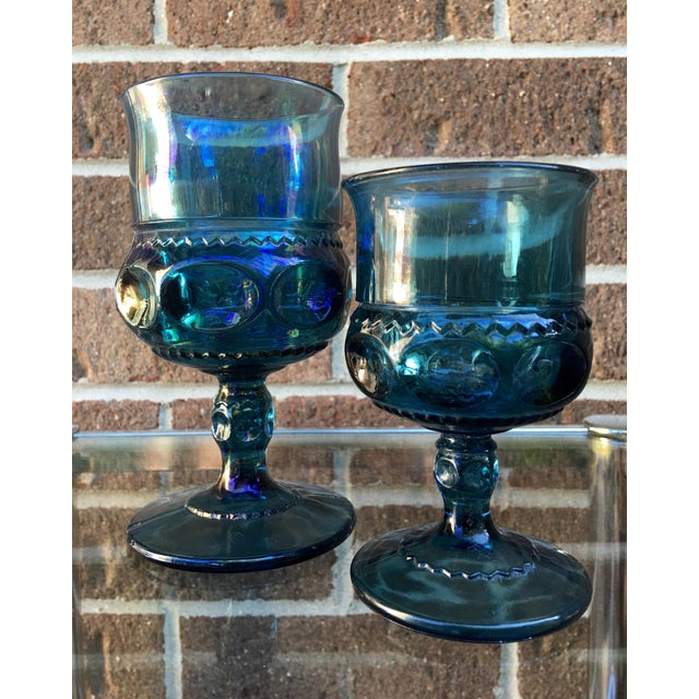 Teal Kings Crown Wine Goblets - Set of 20 - Image 3 of 5