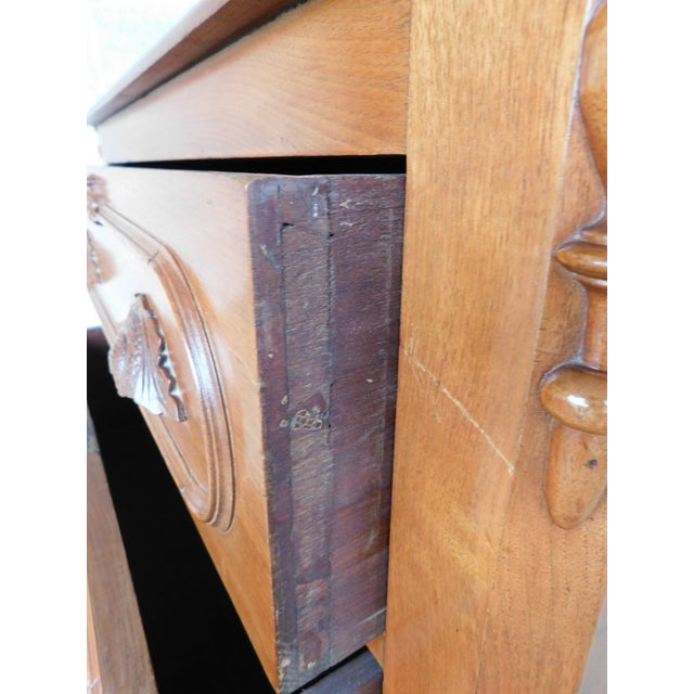Antique Victorian Walnut Cottage Chest For Sale - Image 10 of 13