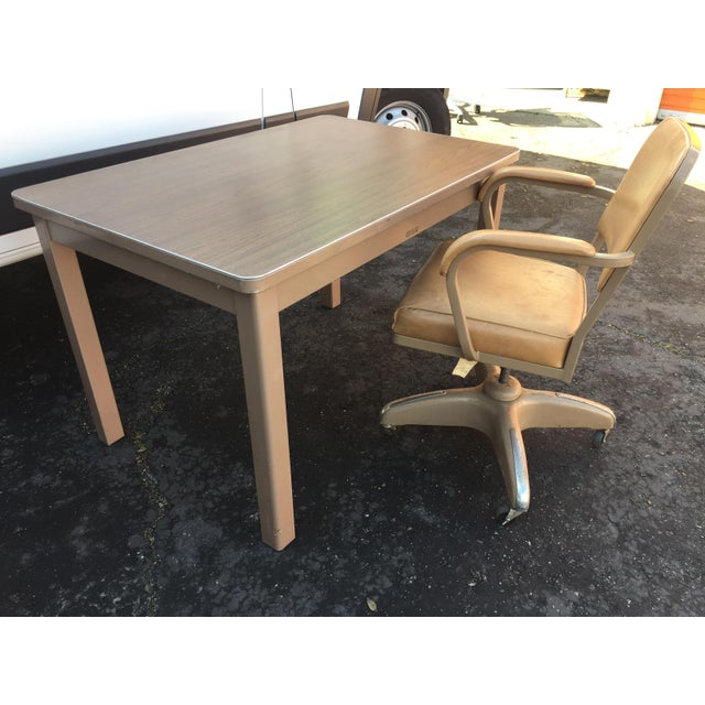 1960s Industrial McDowell and Craig Metal Writing Desk For Sale In San Francisco - Image 6 of 10