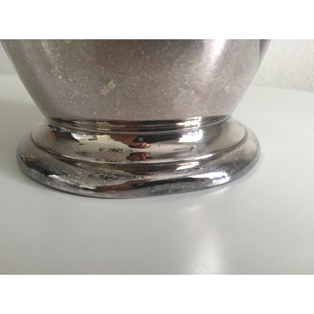 Metal Antique English Silver Water Pitcher For Sale - Image 7 of 10