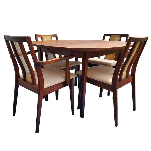 Hibriten Mid-Century Black Walnut Dining Set - Image 1 of 4