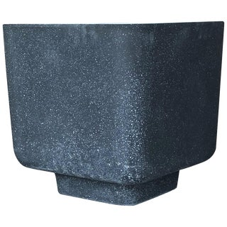 Cast Resin 'Block' Side Table, Coal Stone Finish by Zachary A. Design For Sale