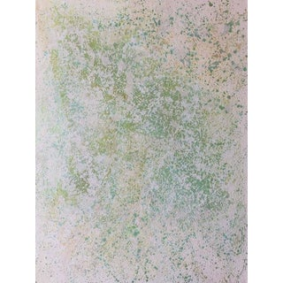 """Contemporary Abstract Oil Painting """"White Dot Com"""" by Sibel Kocabasi"""