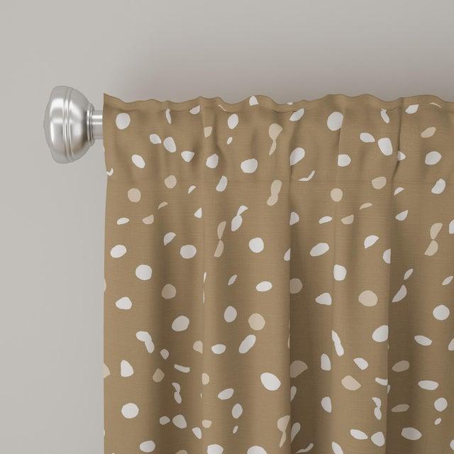 "Angela Chrusciaki Blehm 84"" Curtain in Camel Dot by Angela Chrusciaki Blehm for Chairish For Sale - Image 4 of 6"