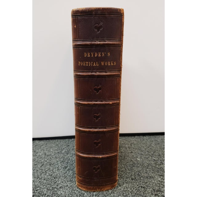 """Victorian """"The Poetical Works of John Dryden"""" Book by Rev. George Gilfillan (1857) For Sale - Image 3 of 10"""