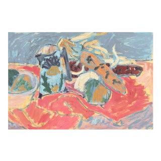 'Still Life' by Victor Di Gesu; 1955 Paris, Louvre, Académie Chaumière, California Post-Impressionist, Lacma For Sale