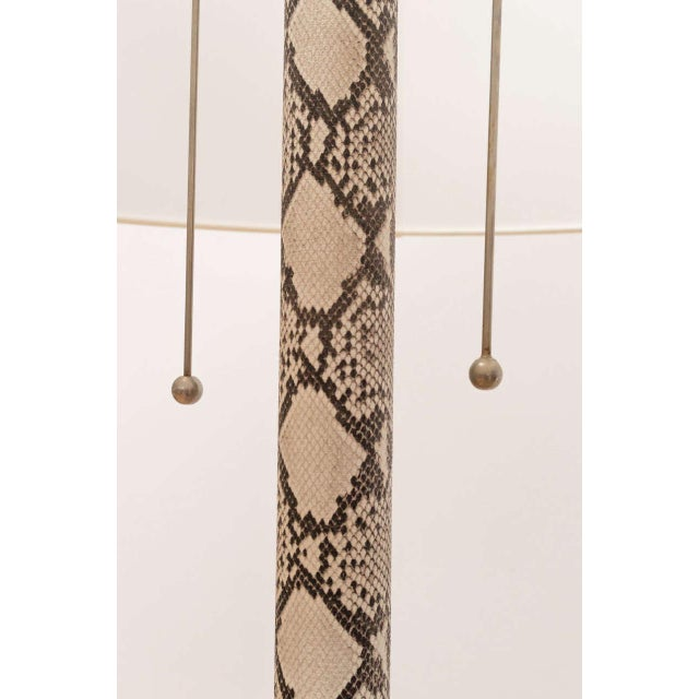 Faux Python Floor Lamp For Sale - Image 5 of 8