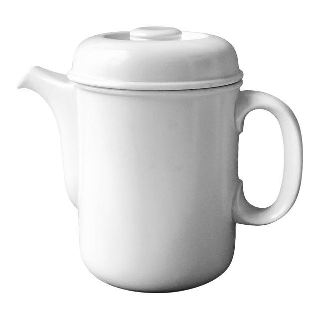 Vintage Flammfest Thomas Rosenthal Germany Tea Coffee Pot White For Sale