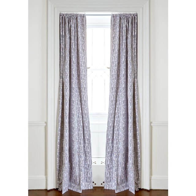 """Modern Pepper Haworth 50"""" x 84"""" Blackout Curtains - 2 Panels For Sale - Image 3 of 3"""