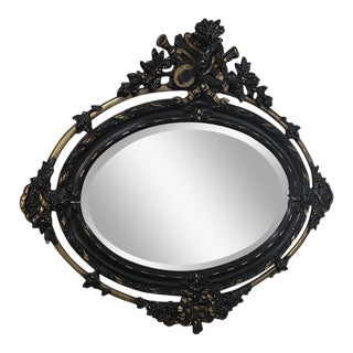 19th Century Antique French Louis XVI Oval Mirror For Sale