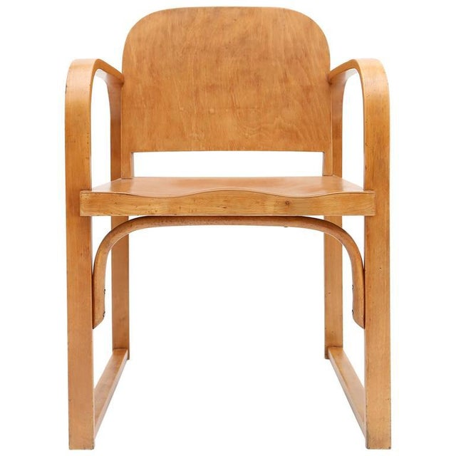 Brown Czech Plywood Chair Tatra For Sale - Image 8 of 8