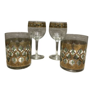 Mid-Century Modern Culver Valencia Glasses - Set of 4 For Sale