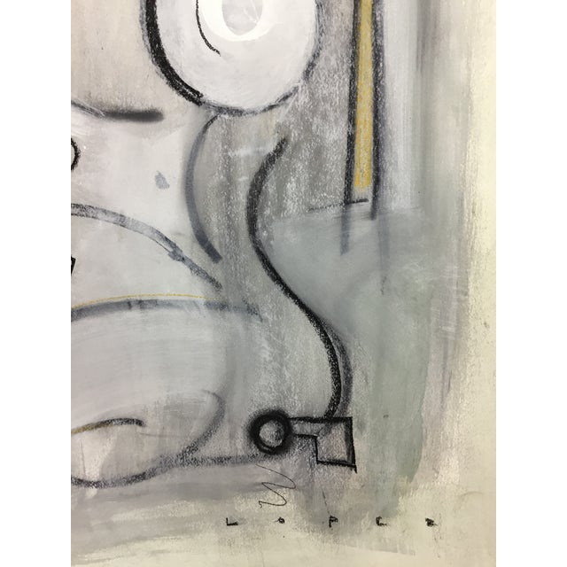Figurative Lucia Lopez Cubist Figurative Painting For Sale - Image 3 of 5