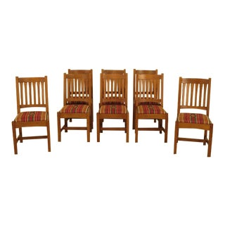 Stickley Mission Oak Dining Room Chairs - Set of 8